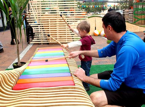 musical bench play a melody in the park with piano benches