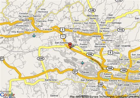 san jose costa rica on map doubletree cariari by san jose costa rica costa