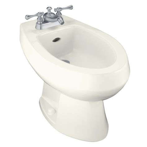 bidet lowes shop kohler amaretto 15 in h biscuit elongated bidet at