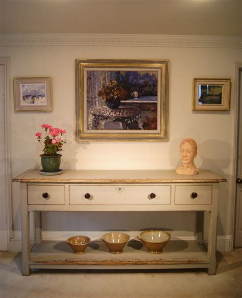 painted reclaimed pine dresser base console table ref