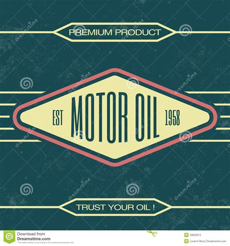 vintage oil sign retro template stock photography