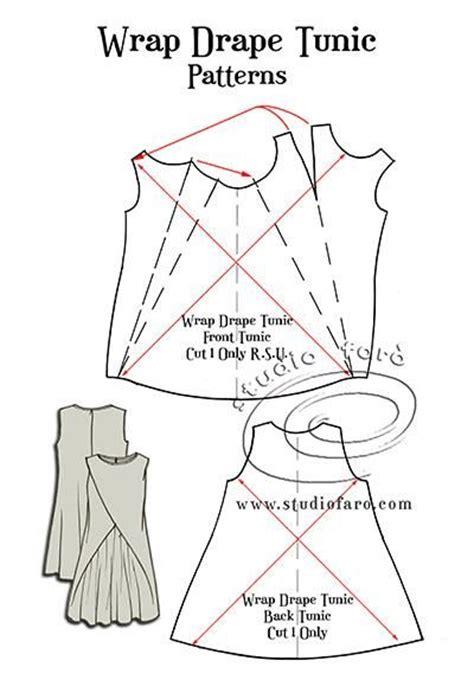 draped dress crossword pattern puzzle wrap drape tunic crafty schtuff sewing