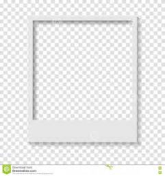 Blank Photo Frame Template by Blank Transparent Paper Polaroid Photo Frame Stock Vector