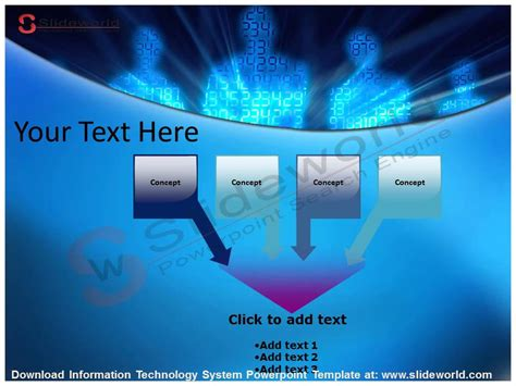 Information Technology System Powerpoint Template Youtube Information Technology Powerpoint Templates