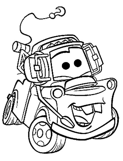 coloring books cars tow mater to print and free download