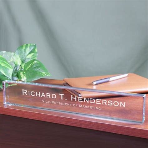 etched glass desk name plates 22 best executive gifts images on grad