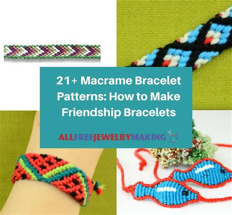 macrame bracelet patterns    friendship bracelets allfreejewelrymakingcom