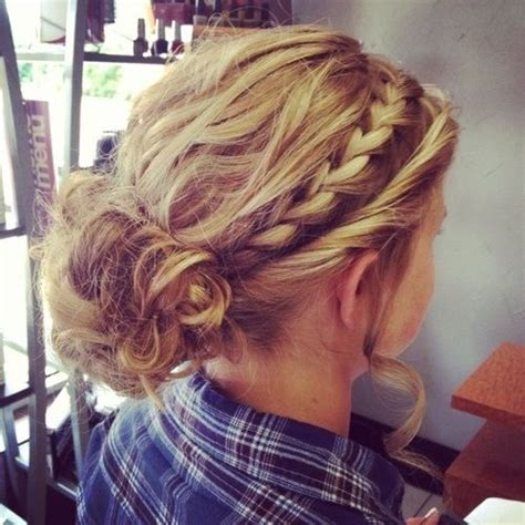 formal hairstyles messy bun with braid cute messy bun and braids hairstyle pinterest cute