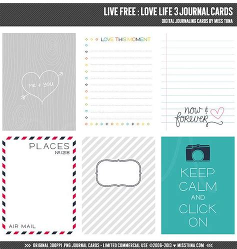 3x4 Note Card Template With Paw Print by Live Free 3 Digital Journal Cards 3x4 4x6