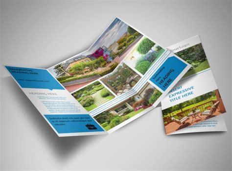 beautiful brochure templates beautiful landscape tri fold brochure template