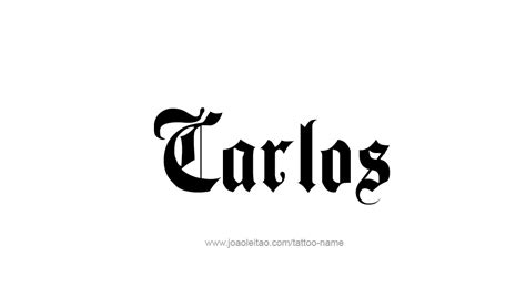 carlos name tattoo designs