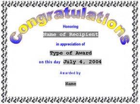 Congratulations Template by Congratulations Certificate Template