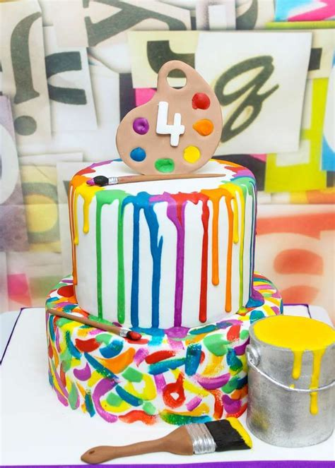 art themed events art party birthday party ideas birthdays cup cakes and