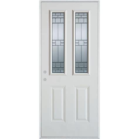 36 X 80 Exterior Door Stanley Doors 36 In X 80 In Architectural 2 Lite 2 Panel Painted White Steel Prehung Front