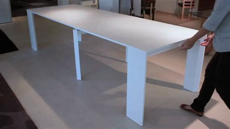 retractable table goliath console dining table youtube