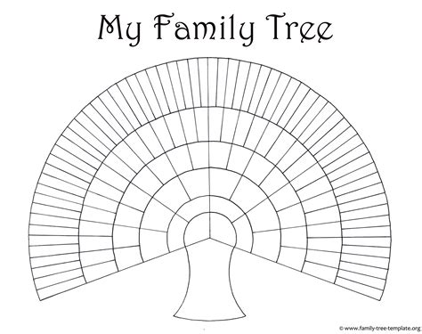 templates for family tree charts best photos of large blank family tree template