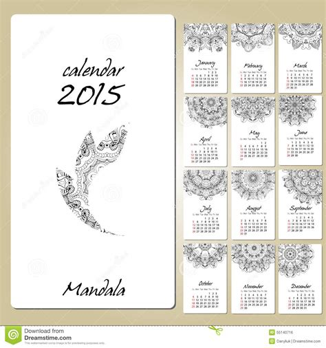 art design kalender 2015 kalender mit der runden verzierung der mandala 2015 j 228 hrig