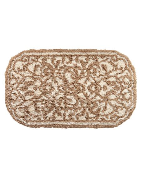 damask bathroom rug graccioza damask bath rug neiman marcus