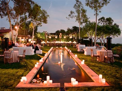 backyard cocktail wedding reception gorgeous pool decorations for weddings the magazine