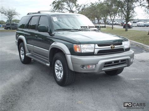 2001 Toyota 4runner Sr5 Specs 2001 Toyota 4 Runner Limited Car Photo And Specs
