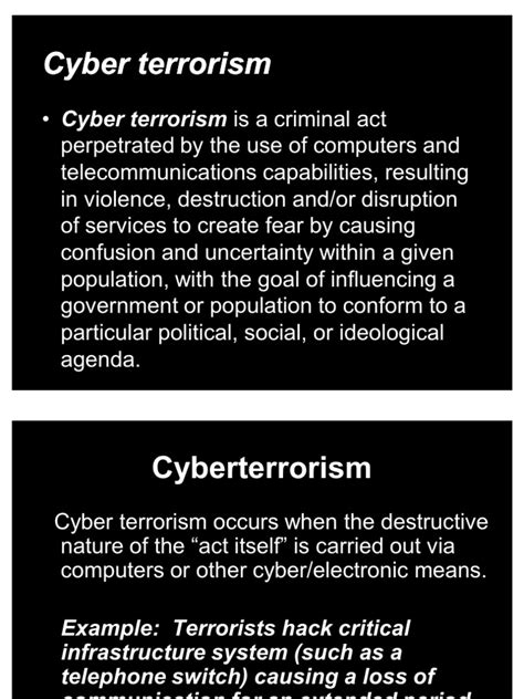 crimes of terror the and political implications of federal terrorism prosecutions books cyber terrorism ppt