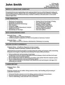 Laboratory Technician Assistant Sle Resume by Laboratory Assistant Resume Template Premium Resume Sles Exle Career Future