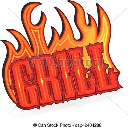 Grille Word by Vector Of Grill Word Text Logo Logo Grill With Flames