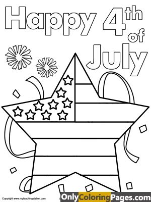 4th Of July Coloring Page For Toddlers by 4th Of July Coloring Pages Free Printable
