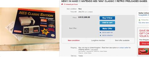 ebay nes classic nintendo s 59 99 nes classic is in short supply but you