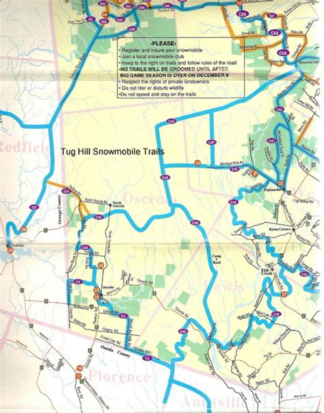tug maps tug hill trail map tug hill ny us mappery