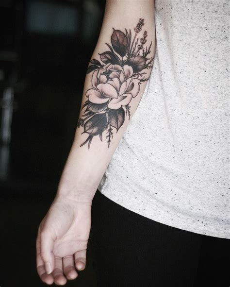 flower tattoos on forearm forearm flower floral arm inner forearm