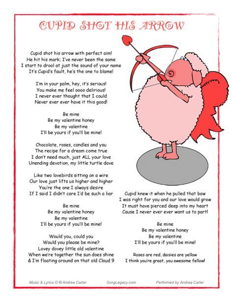 play the valentines song original humorous song for a cupid