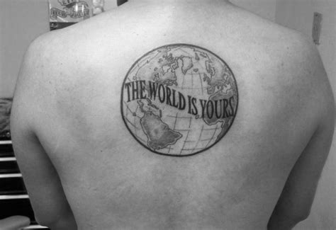 the world is yours tattoo 30 the world is yours designs for manly ink ideas