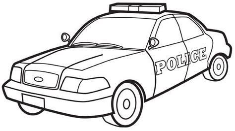 coloriage voiture de police dessin gratuit  imprimer