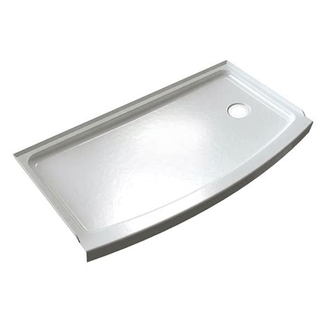 Shower Base Cast Iron by Silver Color Cast Iron Shower Base Pan With Right