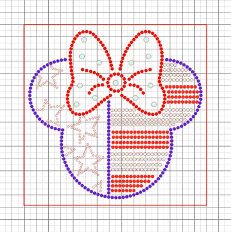 Free Minnie Mouse American Flag Rhinestone Template Instant Download Crafty Shoppe N Tuts Free Rhinestone Templates For Silhouette