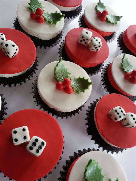 christmas bunco themes themed bunco night6 peppermint and 6 pina colada flavored cupcakes cakecentral