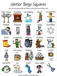 5 Letter Words Related To Winter free winter create your own luck bingo jason s