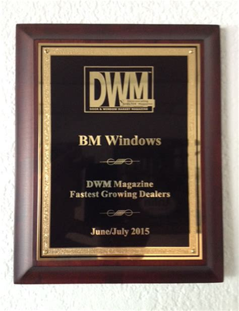 Window And Door Magazine by Bm Windows Awarded Among Quot Fastest Growing Dealers Quot By Dwm