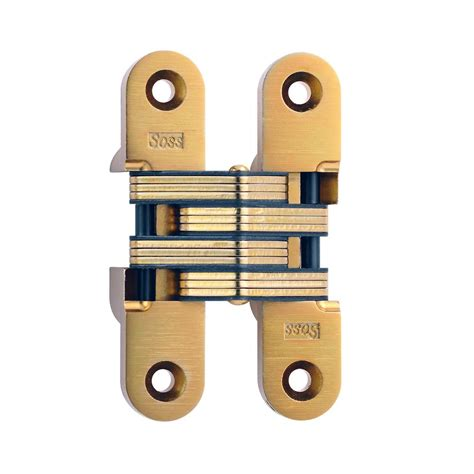 soss invisible hinge installation soss 1 in x 4 5 8 in satin brass invisible hinge 216us4