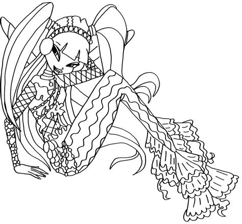 winx mermaids coloring pages free coloring pages of winx sirene
