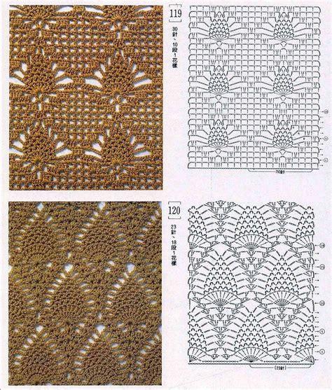 graficos de puntos calados de crochet solo puntos crochet puntos calados