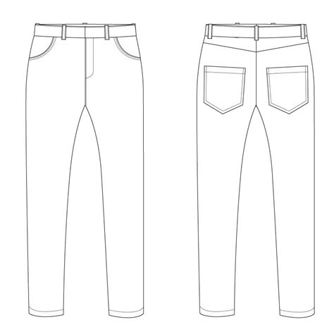 blue jean pant template pictures to pin on pinterest