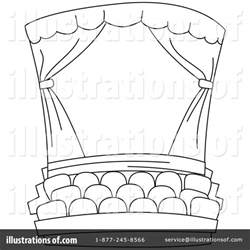 Royalty Free RF Theater Clipart Illustration 1049909 By BNP Design  sketch template