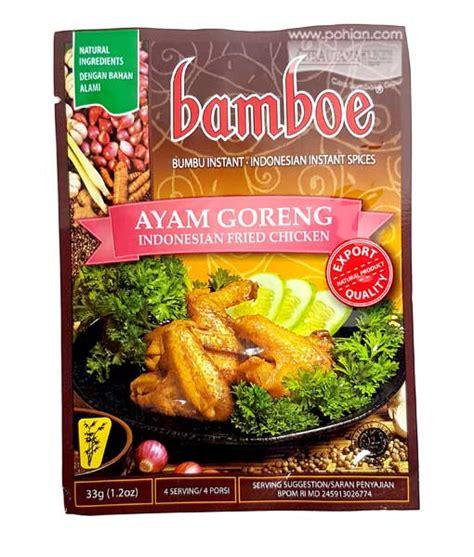 Bamboe Bumbu Nasi Goreng 54gr bamboe ayam goreng 33gr citra utama sembako