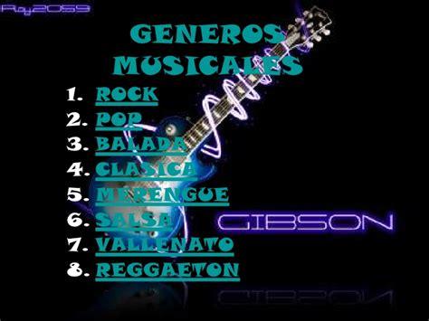 imagenes de estilos musicales generos musicales