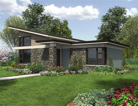 modern single story house plans contemporary home plan inspired style the dunland