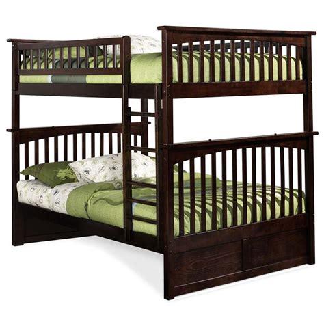 atlantic furniture bunk bed atlantic furniture columbia full over full bunk bed in