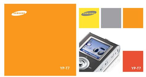 colour mp3 samsung mp3 player yp t7 user guide manualsonline com