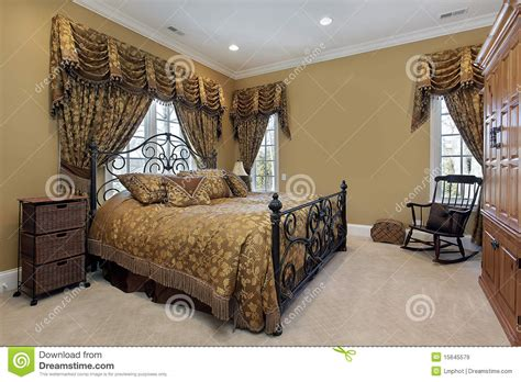 gold walls bedroom master bedroom with gold walls stock image image of